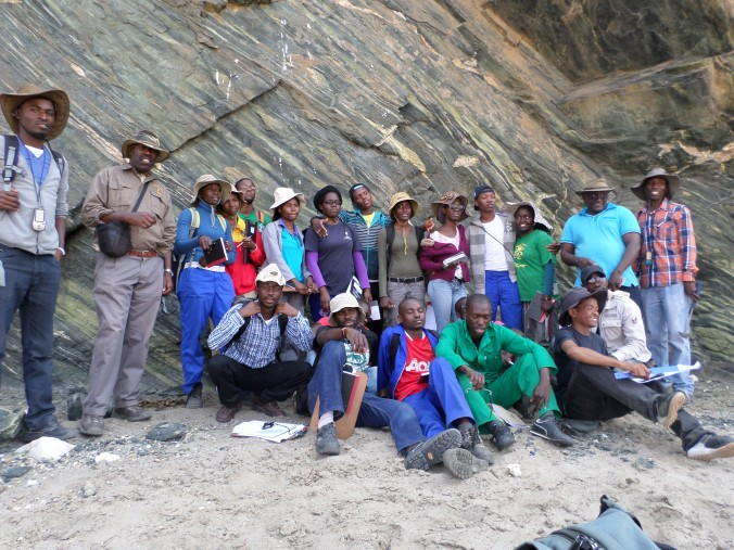 Johanna and her colleagues during Geology field work